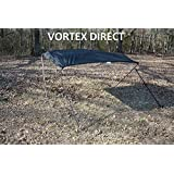 """NEW BLACK STAINLESS STEEL FRAME VORTEX 4 BOW PONTOON/DECK BOAT BIMINI TOP 6' LONG, 79-84"""" WIDE (FAST SHIPPING - 1 TO 4 BUSINESS DAY DELIVERY)"""