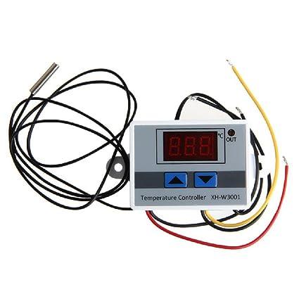 JZK 220V Controlador de Temperatura Doble Relés con Sensor, Termostato Enfriamiento y Calefacción Con NTC