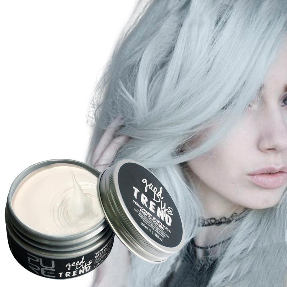 Colorante per capelli alla moda, lavabile, 7 colori per capelli, pomai, cera, fango, colorante, monouso, per fai da te, durevole, per uomini e donne PURC