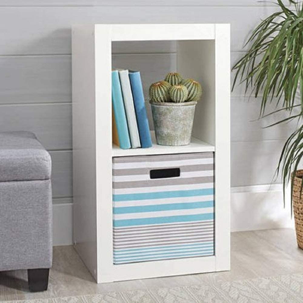 Better Homes and Gardens.. Bookshelf Square Storage Cabinet 4-Cube Organizer (Weathered) (White, 4-Cube) (White, 2-Cube)