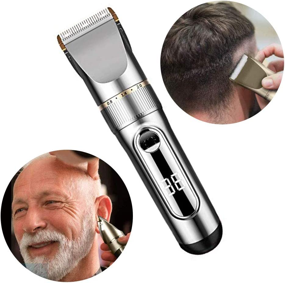 na Cortapelos para Hombres - Fashion Mustache Trimmer Hair Cutting Kit Silver White