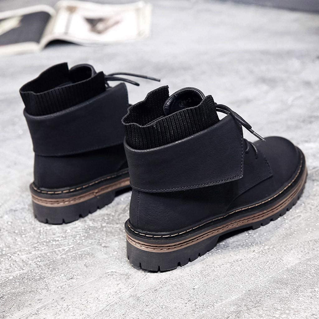 Boots Shoes Women Flat Plush Snow Boots Suede Zipper Boots Round Toe Keep Warm Boot