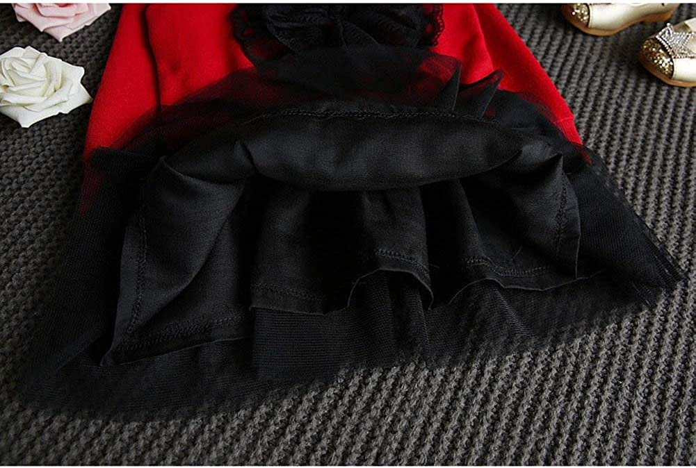 Classic Black Tutu Skirt Autumn Spring Winter Baby Girls Two Piece Knitted Skirt Set Swan Detail Top