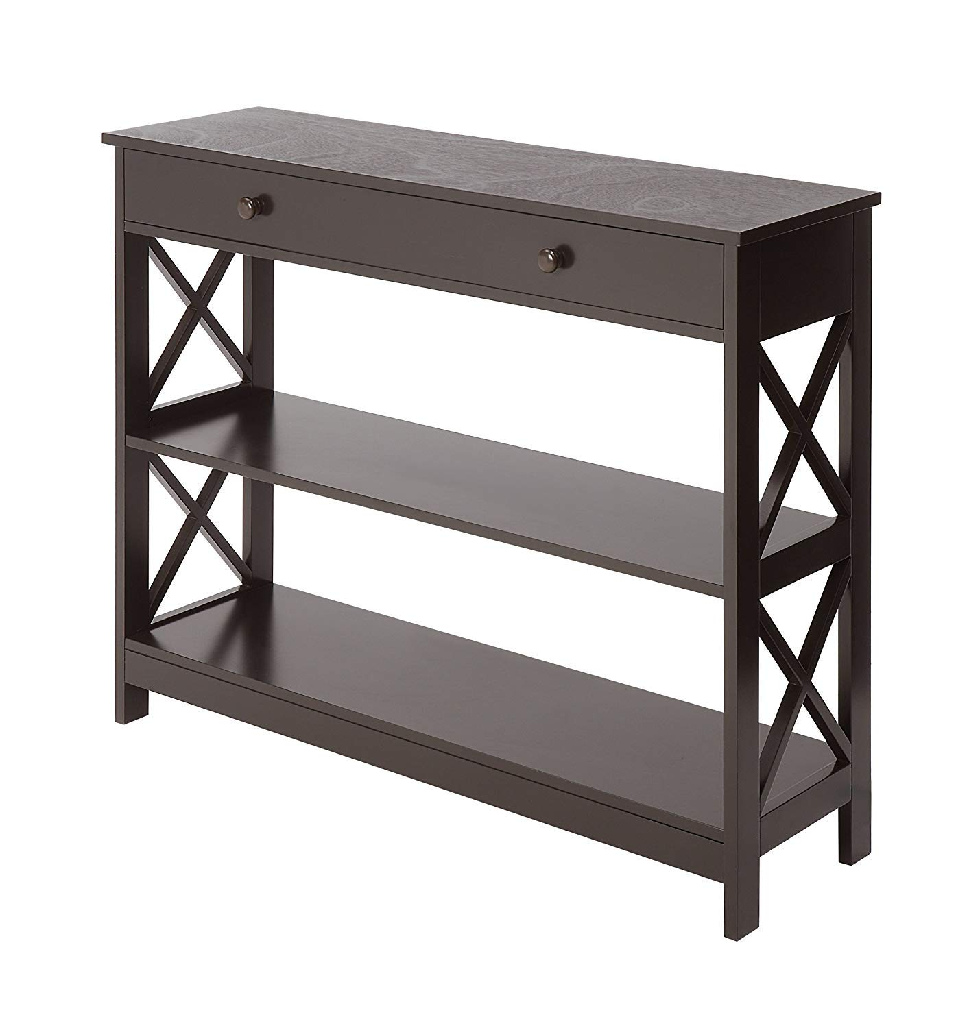 Convenience Concepts Oxford 1-Drawer Console Table, Espresso