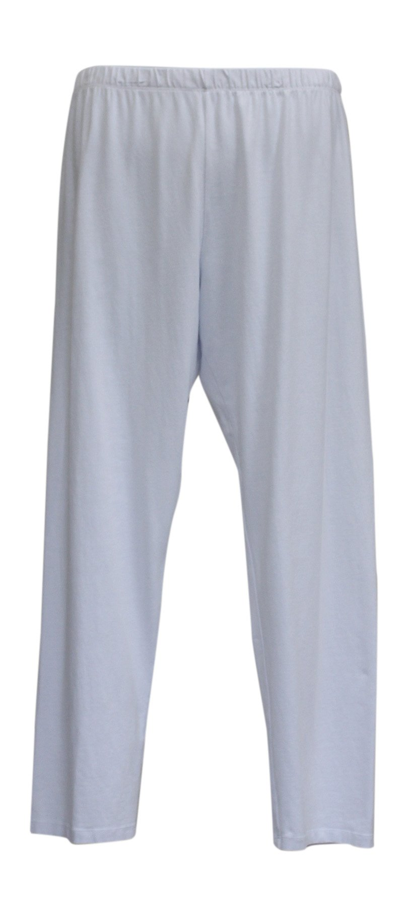 Jess & Jane Women's Mineral Washed Cotton Legging Pants (1X, White)