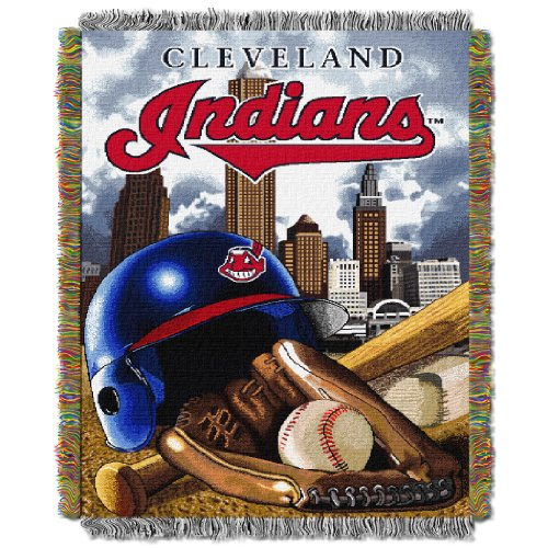 Indians OFFICIAL Major League Baseball, Home Field Advantage 48 x 60 Woven Tapestry Throw
