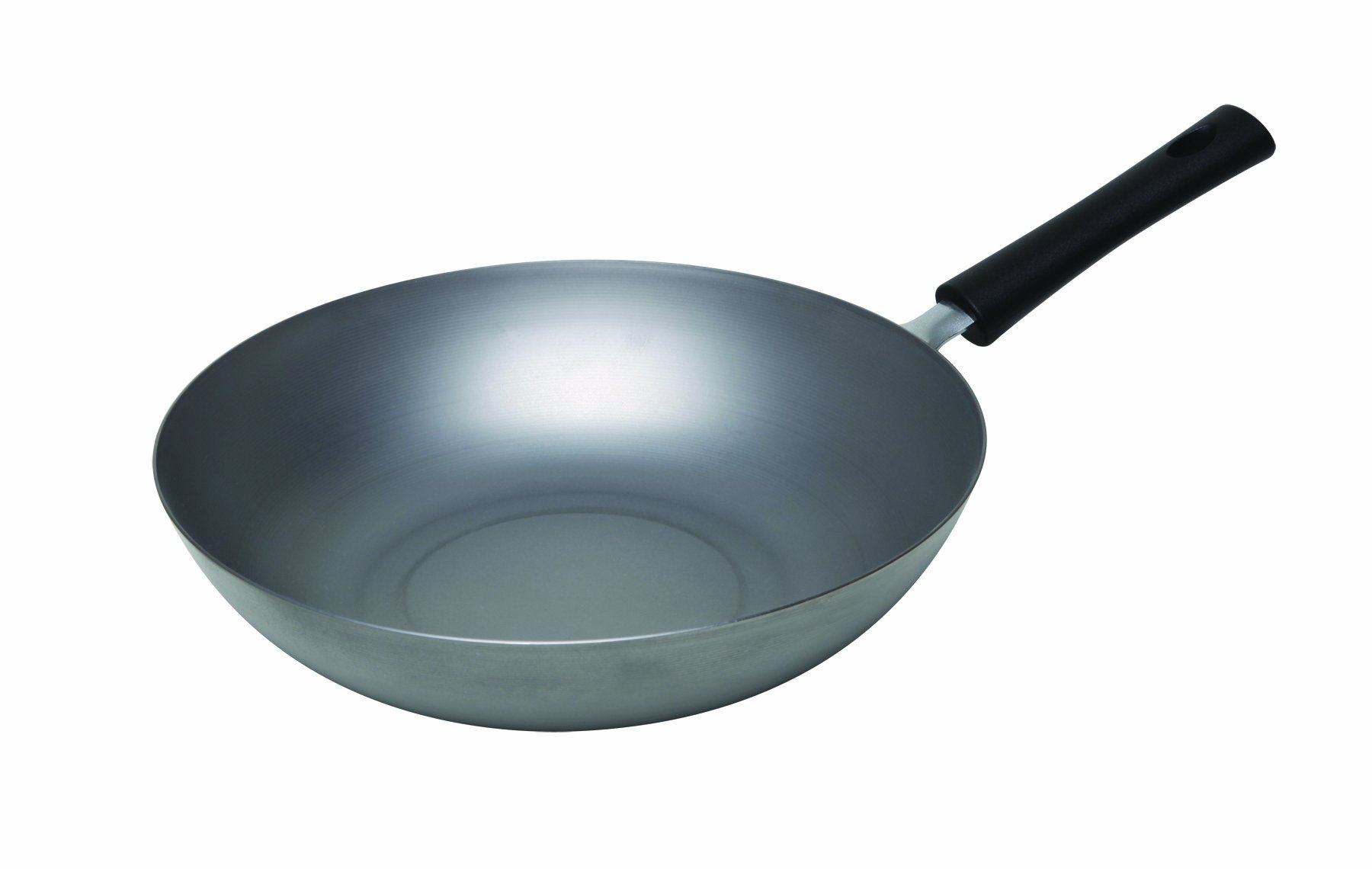 Asian Origins Natural Carbon-Steel 12-Inch Stir-Fry Pan by Columbian Home