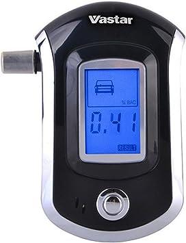 Profesional Alcohol/ímetro Digital con 10 Boquillas Redmoo Alcoholimetros Probador de Alcohol Port/átil con Pantalla LCD Sensor de Semiconductores