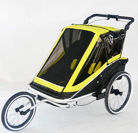 HUWAI Remolque Bicicleta de niño, Doble Asiento Plegable Detrás de ...