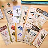 [11 Pack] Animal Pattern Bookmarks_Birds design,Creative Magnetic Bookmarks Pen, Novelty Reading Marking Page with Convenient Ballpoint Pen for Student, Book Lover, Kids, Men and Women
