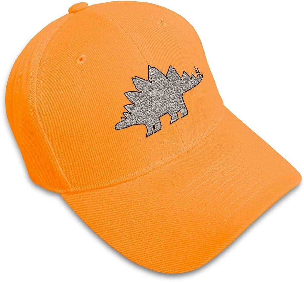 Custom Baseball Cap Stegosaurus Style D Embroidery Dad Hats for Men /& Women