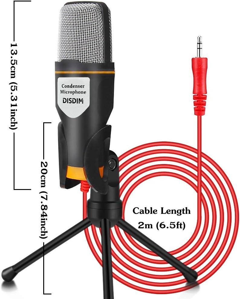 Pc Microphone Disdim 3 5 Mm Studio Condenser Recording Computers Accessories