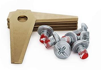 MOWHOUSE - 9 x Cuchillas de Repuesto para Robot Cortacésped Bosch Indego (Titanio): Amazon.es: Bricolaje y herramientas
