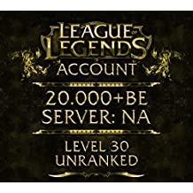 League of Legends Account NA Level 30 20.000+ BE