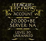 Video Games : League of Legends Account NA Level 30 20.000+ BE