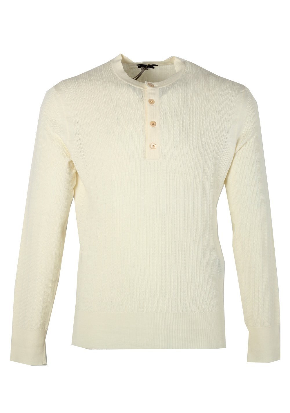 a1e453194439 Costume Limit CL - Tom Ford Off White Long Sleeve Henley Sweater Size 48    38R U.S. in Cashmere Blend