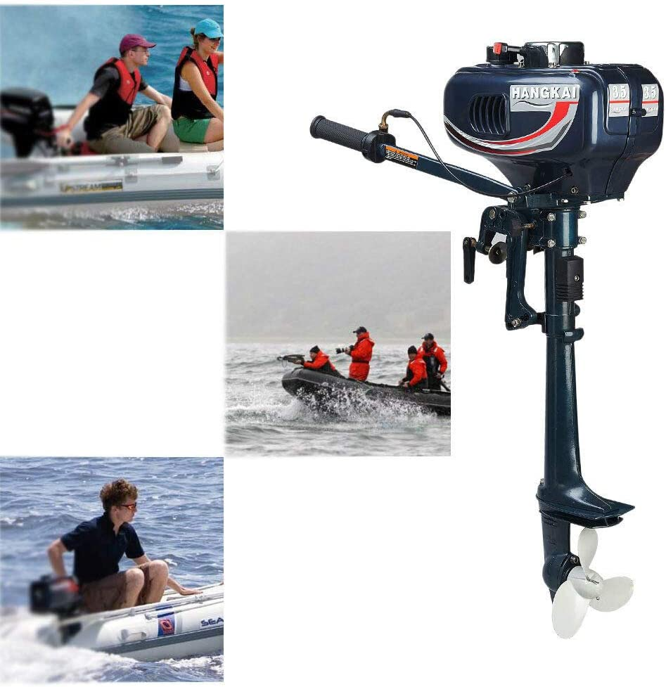 Cozyel 3.5HP Heavy Duty Boat Motor 2 Stroke Outboard Motor Boat Engine W/Water Air Cooling System