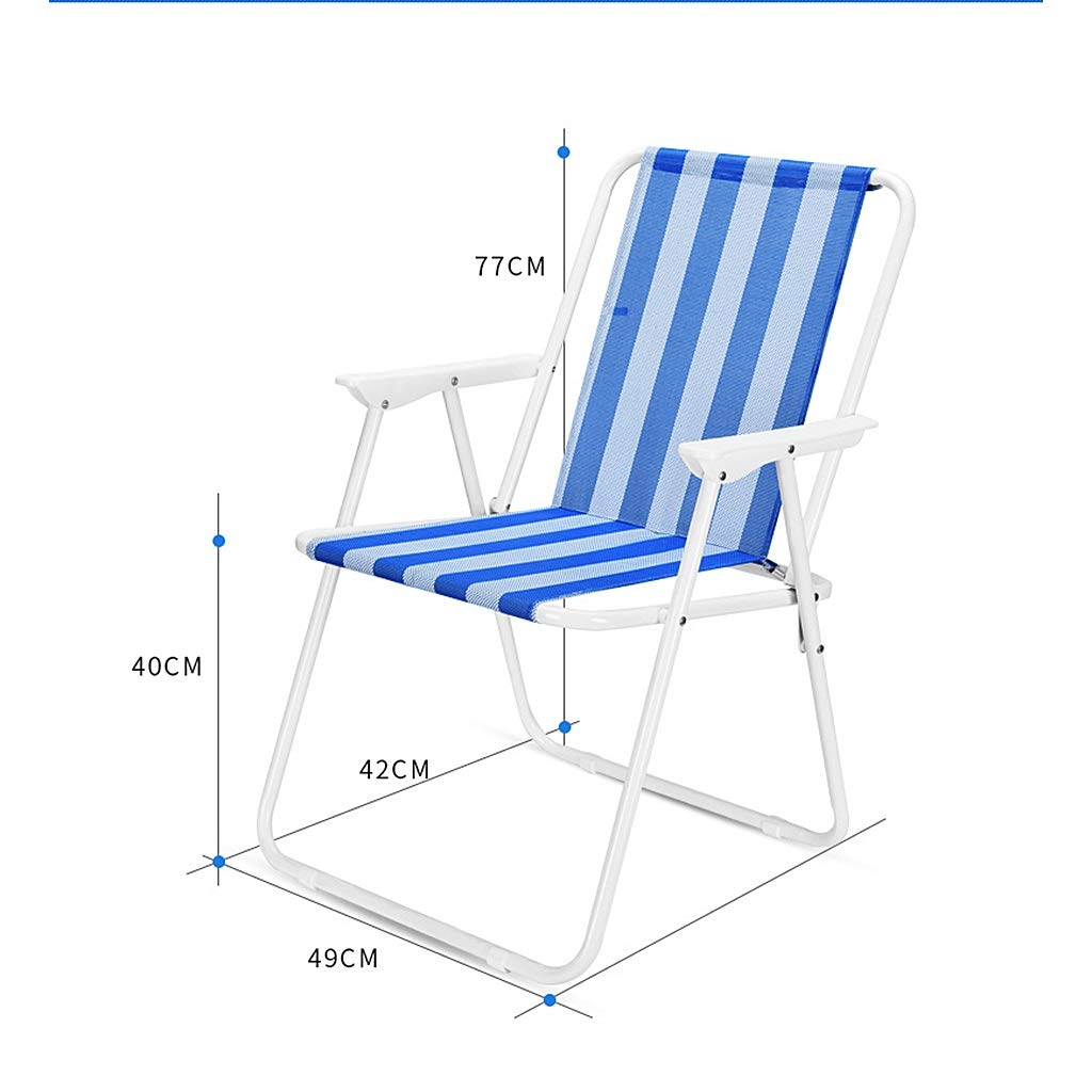 Amazon.com: Silla plegable portátil de playa con respaldo de ...
