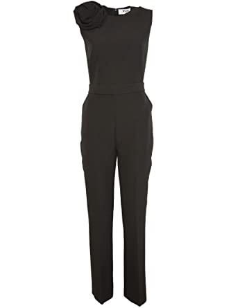 8804795bf10 Image Unavailable. Image not available for. Color  MSGM Women s  2543Mda0318470199 Black Polyester Jumpsuit