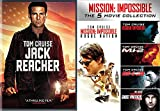 Tom Cruise Jack Reacher DVD + Mission: Impossible 5-Movie Collection Pack Movie Action Mi2 / Mi3 / Ghost Protocol / Rogue Nation