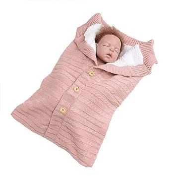 Queta - Saco de Dormir para bebé (Tejido de Lana y Terciopelo) Rosa Rosa: Amazon.es: Informática