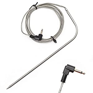 smseace 0.13in(3.5mm) Plug Waterproof BBQ Meat Thermometer Probe Replacement . Compatible with Traeger BBQ Grills. TZ-3.5-185-1