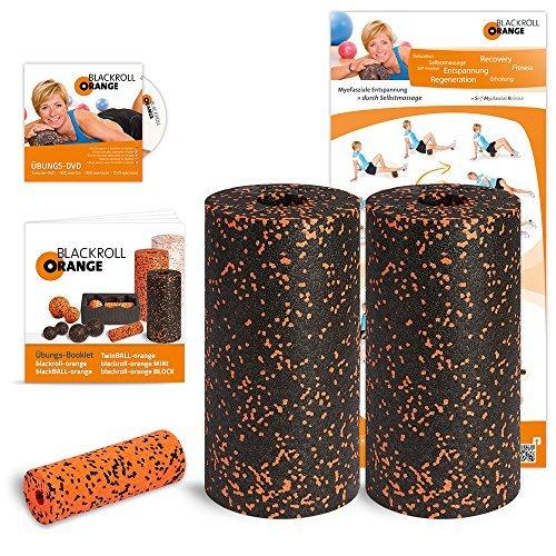 Blackroll orange (the original) - THE self-massage roller - Standard twin set incl. exercise DVD, poster and booklet) by blackroll-orange / Dr. Paul Koch GmbH by blackroll-orange / Dr. Paul Koch GmbH