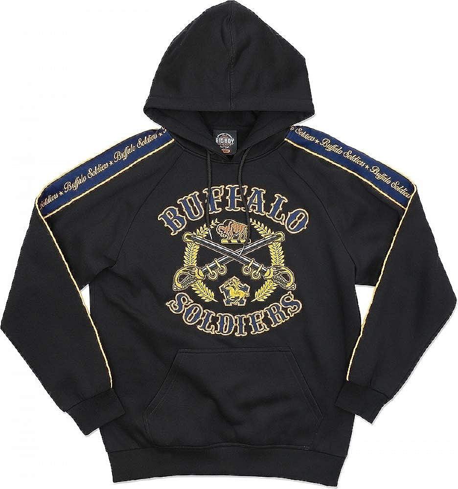 Big Boy Buffalo Soldiers S4 Pullover Mens Hoodie Black - 2XL