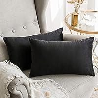 MIULEE Velvet Soft Soild Decorative Square Throw Pillow Covers Set Cushion Case for Sofa Bedroom Car