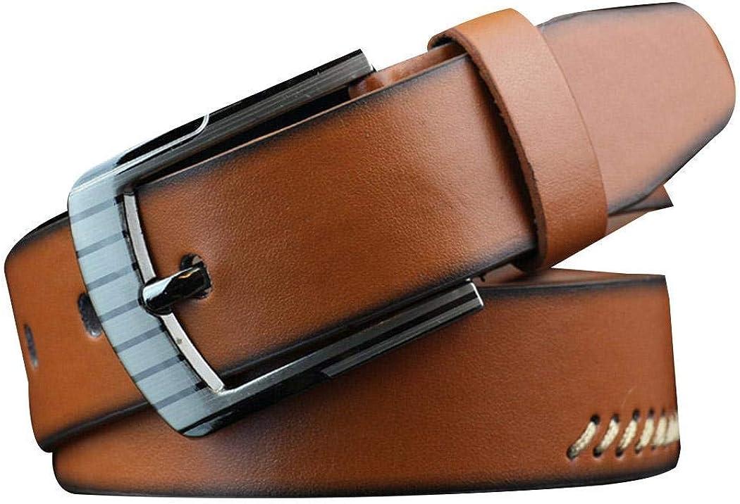 Tomasa Hombres Cintur/ón de Cuero Correa Cinturones 110cm Dise/ñado para caballero hombres Adulto cintura normal cintura cintur/ón Prenda para hombre Negocio formal ropa casual