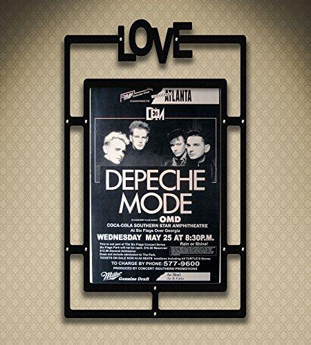Depeche Mode Six Flags Georgia 1988 Retro Art Print — Poster Size — Print of Retro Concert Poster — Features Dave Gahan, Martin L. Gore, Andrew Fletcher and Alan Wilder .