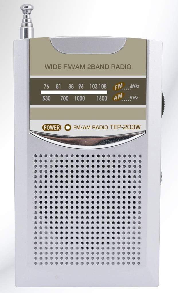テプロス通商 ワイドFM/AM ポケットラジオ