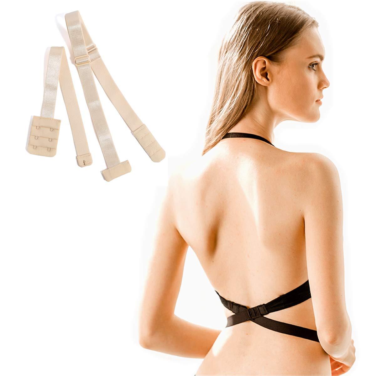 2c2832c17eec1 Bra Extender 2 Hook Low Back Bra Strap Converter for Women Lady Backless  Dress at Amazon Women s Clothing store