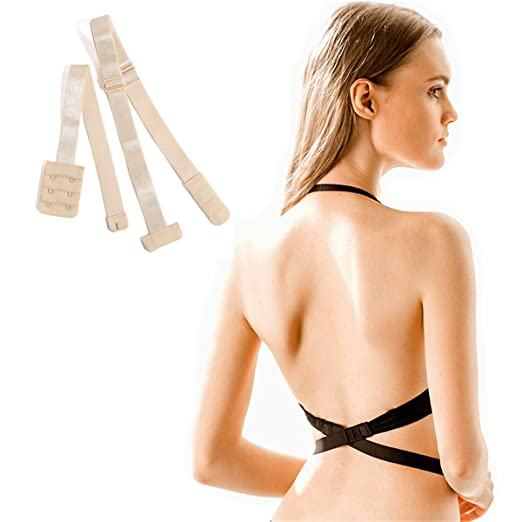 efc32ce45c4f8 Bra Extender 2 Hook Low Back Bra Strap Converter for Women Lady Backless  Dress