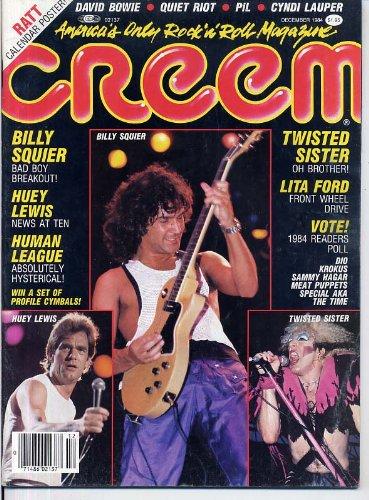 Creem Magazine Billy Squier Huey Lewis Lita Ford Human League Twisted Sister Ratt Rudy Sarzo Cyndi Lauper Quiet Riot December 1984 C  Creem Magazine
