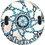 Chanvi Snow Tube Sled Air Tube Winter Inflatable Round with Big Grab Handles 38 Inch- Heavy Duty with Rapid Valves