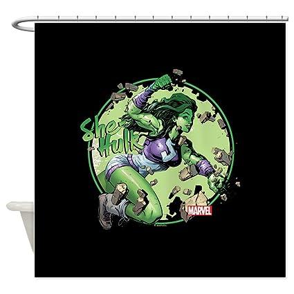 Amazon CafePress She Hulk Punching Shower Decorative Fabric