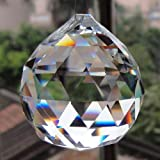 Petrichor Feng shui Clear Crystal Hanging Ball for Good luck & Prosperity - Home Decoration/Gifting (40 MM)