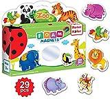 magnet game for fridge - Refrigerator Magnets for Toddlers – Toddler Magnets – Animal Magnets – Refrigerator Magnets for Kids – Baby Magnets – Kids Magnets – Fridge Magnets for Toddlers Kids – Magnetic Animals Learning Set