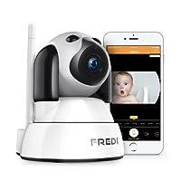 FREDI 720P HD IP Telecamera di Sorveglianza Wifi Wireless Camera Interno Telecamera wi-fi senza fill con Controllo Remoto, Audio Bidirezionale, Modalità Notturna a Infrarossi Videocamera di sorveglianza Camera Compatibile con iOS Android PC
