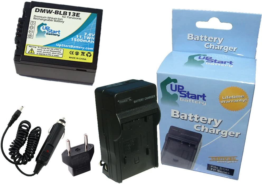1500mAh 7.4V Lithium-Ion Replacement for Panasonic DMC-G2K Battery and Charger Compatible with Panasonic DMW-BLB13 Digital Camera Batteries and Chargers