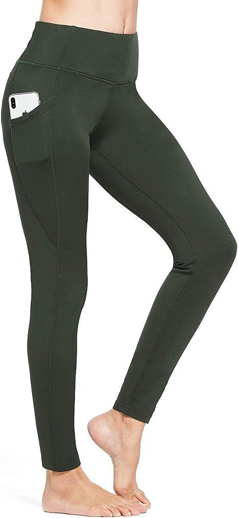 BALEAF Womens Fleece Lined Leggings Winter Yoga Leggings Thermal High Waisted Pocketed Pants