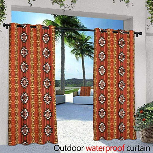 Outdoor Privacy Curtain for Pergola,Epic desert sunset over valley of the Sun, Phoenix, Scottsdale, Arizona with Saguaro cactus in foreground Plenty of space for copy, banner text,W72