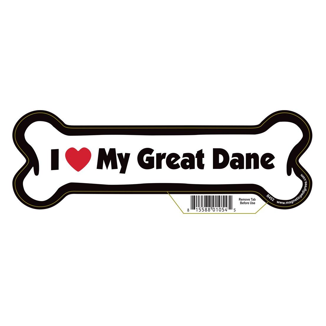 Great Dane Dog Bone Magnet