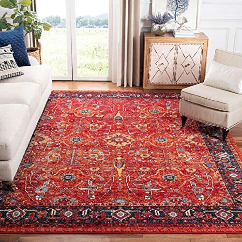 Safavieh Vintage Hamadan Collection VTH220C Oriental Traditional Persian Non-Shedding Stain Resistant Living Room Bedroom Area Rug