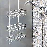 Sehr HENGMEI Badregal Duschablage ohne Bohren für Duschkabinen 3 Böden GZ25
