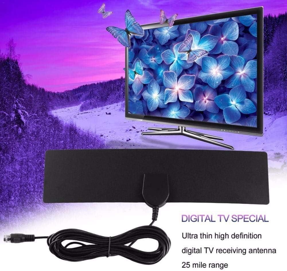 Liteness Antena De TV HD De 1080p para TV Digital para Interiores, HDTV TV Digital para Interiores La Antena DVB-T2 Y El Amplificador De Señal Son Compatibles con 80 Millas con 80