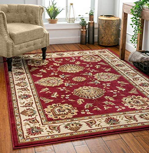 Well Woven Timeless Abbasi Red Traditional Area Rug 7 10 X 10 6