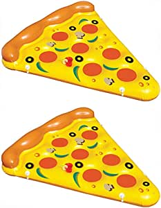 2-Pack of Swimline Giant Inflatable Pizza Slice Float Rafts | 2 x 90645