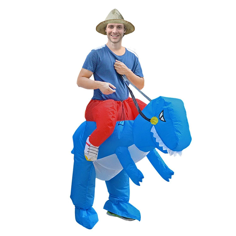 GMIOWEU Dinosaur Inflatable Costume, Halloween Costume, Dinosaur Cosplay Costume, Dinosaur Toy Jumpsuit Clothing Hat